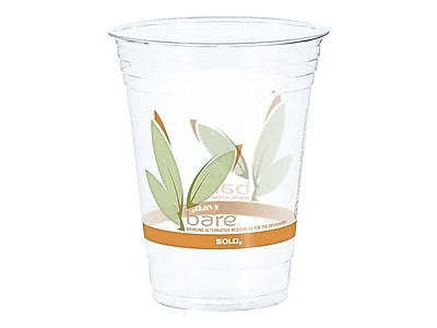 Solo Bare Eco-Forward Cold Cups, 16 Oz., Ultra Clear, 50/Pack (RTP16)