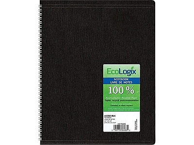 Blueline Ecologix Recycled Business Notebook Flexible Black Soft
