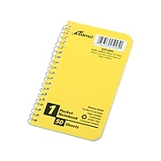 """Ampad Memo Notebook, 3"""" x 5"""", Narrow Ruled, 50 Sheets, Assorted Colors (25-095)"""