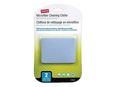 Staples Microfiber Cleaning Cloths, 2/Pack (17370)