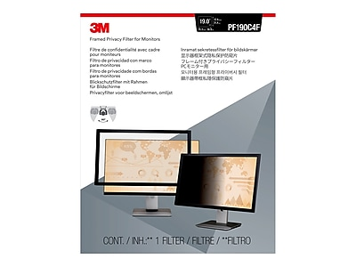 "3M Framed Privacy Filter for Monitor, 19"" Standard (5:4) (PF190C4F)"