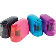 Staples® Battery Powered Pencil Sharpener, Assorted Colors (27661)