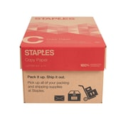 "Staples 8.5"" x 11"" Copy Paper, 20 lbs, 92 Brightness, 5000/Carton (135848)"