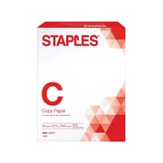 "Staples 8.5"" x 11"" Copy Paper, 20 lbs., 92 Brightness, 500/Ream (135855/135855WH)"