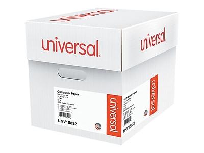 "Universal 14.875"" x 11"" Continuous Paper, 20 lbs, 92 Brightness, 2400/Carton (UNV15852)"
