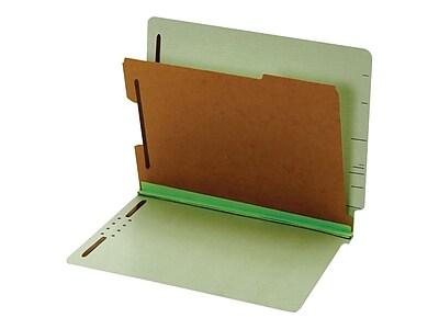 Pendaflex Pressboard Classification Folders, Letter Size, 1 Divider, Light Green, 10/Box (PFX 23214)