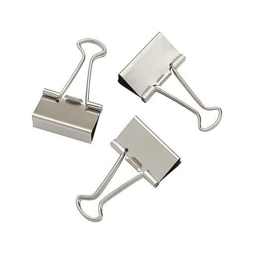 Shop Staples For Staples® Satin Silver Metal Binder Clips