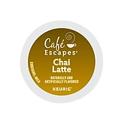 Café Escapes Chai Latte Tea, Keurig® K-Cup® Pods, 24/Box (6805)
