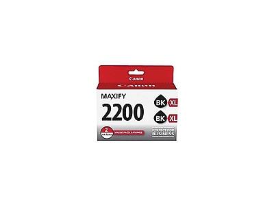 Canon PGI 2200XL Twin Black Ink Cartridges, High Yield, 2/Pack (9255B006)