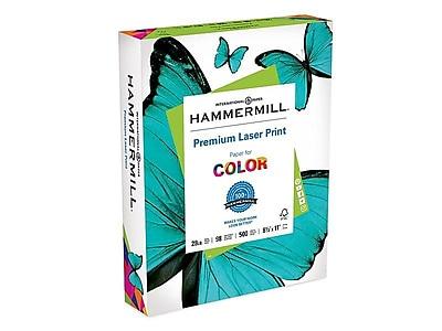 "Hammermill Premium Laser Print 8.5"" x 11"" Multipurpose Paper, 28 lbs, 98 Brightness, 500/Ream (125534)"