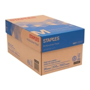 "Staples 8.5"" x 11"" Multipurpose Paper, 20 lbs, 96 Brightness, 5000/Carton (513096-BL)"
