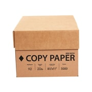 "Staples 8.5"" x 11"" Copy Paper, 20 lbs, 92 Brightness, 5000/Carton (324791)"