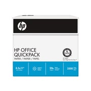"HP Office Quickpack 8.5"" x 11"" Multipurpose Paper, 20 lbs, 92 Brightness, 2500/Carton (HP2500S)"