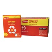 "Staples 30% Recycled 8.5"" x 11"" Copy Paper, 20 lbs, 92 Brightness, 5000/Carton (112350/461757)"