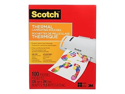 Scotch™ Thermal Laminating Pouches, Letter Size, 100 Pouches (TP3854-100WM)
