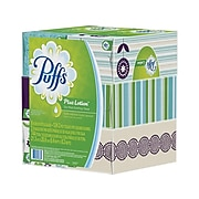 Puffs Plus Lotion Facial Tissue, 2-Ply, 124 Sheets/Box, 6 Boxes/Pack (39383)