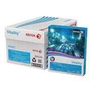 "Xerox Vitality 30% Recycled 8.5"" x 11"" Multipurpose Paper, 20 lbs, 92 Brightness, 500/Ream, 10 Reams/Carton (3R06296)"