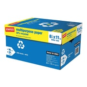 "Staples 30% Recycled 8.5"" x 11"" Multipurpose Paper, 20 lbs., 96 Brightness, 500/Ream, 10 Reams/Carton (86035)"