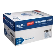 "Staples Select 8.5"" x 11"" Copy Paper, 20 lbs, 94 Brightness, 500/Ream, 10 Reams/Carton (20472)"