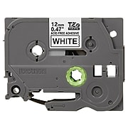 """Brother TZ-EAF231 Label Maker Tape, 0.47""""W, Black On White"""