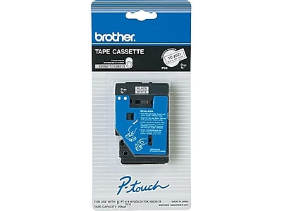"Brother TC-20Z1 Label Maker Tape, 0.35""W, Black On White"