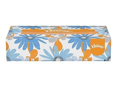 Kleenex Standard Facial Tissue, 2-Ply, 125 Sheets/Box, 48 Boxes/Pack (21606)
