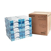 Staples Standard Facial Tissue, 2-Ply, 100 Sheets/Box, 48 Boxes/Pack (21826/33603)