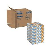 Kleenex Standard Facial Tissue, 2-Ply, 125 Sheets/Box, 12 Boxes/Pack (03076)