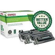 Sustainable Earth by Staples Remanufactured Black High Yield Toner Cartridge Replacement for HP 90A (CE390A), 2/Pack