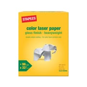 "Staples 8.5"" x 11"" Laser Paper, 32 lbs., 96 Brightness, 300/Pack (86048)"