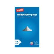 "Staples® 8.5"" x 14"" Multipurpose Paper, 20 lbs.,96 Brightness"