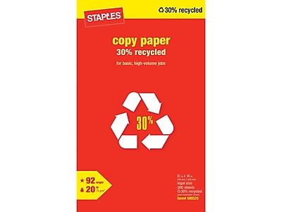 Staples 30% Recycled 8.5