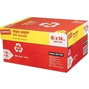 "Staples 8.5"" x 14"" Copy Paper, 20 lbs, 92 Brightness, 500/Ream, 10 Reams/Carton (112380)"