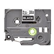 "Brother TZe-325 Label Maker Tape, 0.35""W, White On Black"