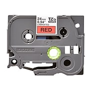 """Brother TZ-E451 Label Maker Tape, 0.94""""W, Black On Red"""