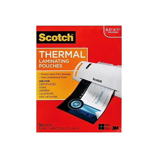 3m Scotch 3 Mil Thermal Laminating Pouches Letter Size 50 Pack Tp3854 50 At Staples