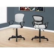 Monarch I 7261 Juvenile Office Chair White Mesh