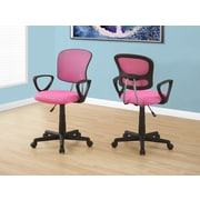 Monarch I 7263 Juvenile Office Chair Pink Mesh