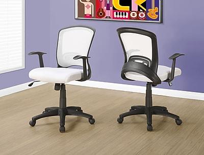 Monarch I 7266 Office Chair White Mesh
