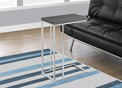 Monarch Accent Table Grey with Chrome Metal (I 3228)