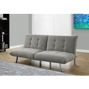 Monarch Linen Futon Light Grey (I 8968)