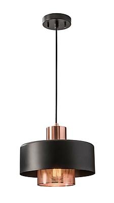 Adesso Bradbury Pendant, Black & Brushed Copper (6047-20)