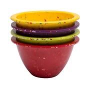 Confetti 4-piece Recycled Plastic Prep Bowl Set - Assorted Red