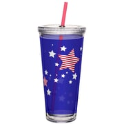 Merica Double Wall Tumbler with Lid and Straw