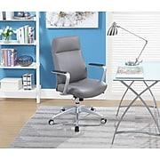 La-Z-Boy Savona Leather Adjustable Height Ergonomic Managers Chair, Gray (LF50229)