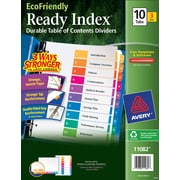 Avery® EcoFriendly Ready Index® Multicolor Table of Contents Dividers, 10-tab, 3 Sets/Pack