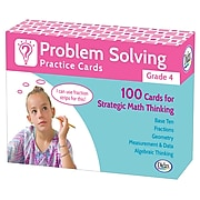 Problem Solving Practice Cards for Grade 4, Pack of 100 (DD-211280)