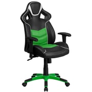 High Back Green Vinyl Executive Swivel Office Chair with Inner Coil Spring Comfort Seat and Green Base [CP-B331A01-GN-GG]