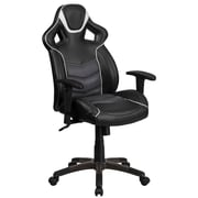 High Back Storm Gray Vinyl Executive Swivel Office Chair with Inner-Coil Spring Comfort Seat and Gray Base [CP-B331A01-GY-GG]