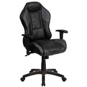 High Back Storm Gray Vinyl Executive Swivel Office Chair with Inner-Coil Spring Comfort Seat and Gray Base [CP-B329A02-GY-GG]
